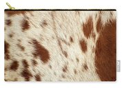 Pattern Of A Longhorn Bull Cowhide. Carry-all Pouch by Rob D Imagery