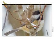 Peaceful Winter Chickadee  Carry-all Pouch