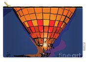 Peach Hot Air Balloon Night Glow In Abstract Carry-all Pouch