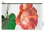 Peach Morning Glory Carry-all Pouch