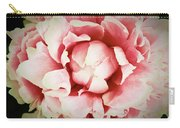 Peach Peony Carry-all Pouch