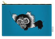 Peeking Lemur - Ink Illustration Carry-all Pouch