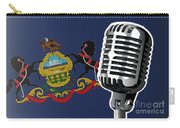 Pennsylvania Flag And Microphone Carry-all Pouch