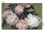 Peonies Front And Center Carry-all Pouch