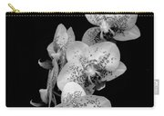 Phalaenopsis Orchids Black And White Carry-all Pouch