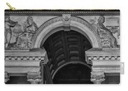 Philadelphia City Hall Fresco In Black And White Carry-all Pouch