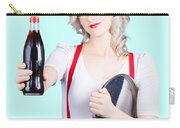 Pin-up Girl Holding Soft Drink Bottle Carry-all Pouch