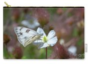 Pine White Butterfly Carry-all Pouch by Susan Warren