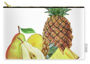 Pineapple Pear Watercolor Food Illustration  Carry-all Pouch