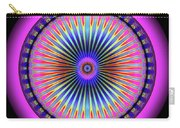 Pink Circus Sun  Carry-all Pouch by Visual Artist Frank Bonilla
