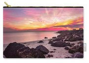 Pink Cloud Trails Carry-all Pouch