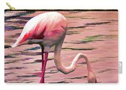 Pink Flamingo Two Carry-all Pouch