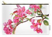 Pink Flowering Tree Blossoms Carry-all Pouch