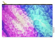 Pink Ice Blue  Abstract Polygon Crystal Cubism Low Poly Triangle Design Carry-all Pouch