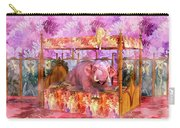 Pink Laughing Elephant Carry-all Pouch