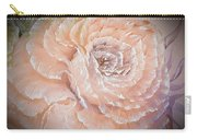 Pink Rose Romance Dark In Orange Carry-all Pouch
