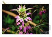 Pink Wildflower Carry-all Pouch