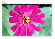 Pink Zinnia With Spider Carry-all Pouch