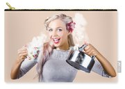Pinup Girl Holding Kettle And Mug Carry-all Pouch