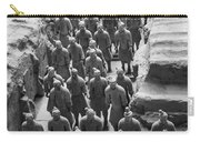 Pit 1 Of Terra Cotta Warriors In Black And White Carry-all Pouch