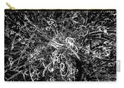 Plant Black And White Abstract Carry-all Pouch