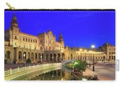 Plaza De Espana At Night Seville Andalusia Spain Carry-all Pouch