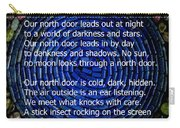Poem Spirit Door Over Lapis Spiral In Bed Of Tourmaline Carry-all Pouch