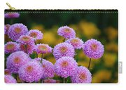 Pompom Dahlia In A Group Carry-all Pouch
