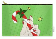 Pop Art Candy Cane Carry-all Pouch