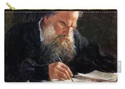 Portrait Of Leo Tolstoy Carry-all Pouch