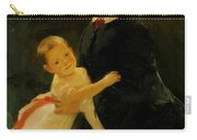 Portrait Of Shestova With Daughter Carry-all Pouch