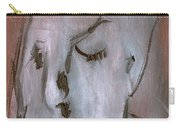 Portrait On Red Carry-all Pouch