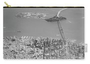 Portrait View Of Downtown San Francisco From Commertial Airplane Carry-all Pouch