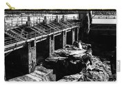 Post Falls Dam Black And White Carry-all Pouch