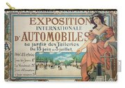 Poster Advertising The Exposition Internationale Automobiles At The Tuileries Gardens 1898 Carry-all Pouch