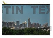 Poster Of Downtown Austin Skyline Over The Green Trees Carry-all Pouch