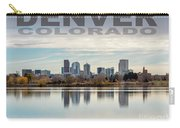 Poster Of Downtown Denver At Dusk Reflected On Water Carry-all Pouch