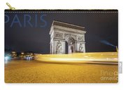 Poster Of The Arch De Triumph With The Eiffel Tower In The Picture Carry-all Pouch