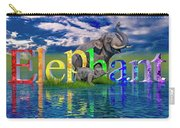 Precious E Is For Elephant Carry-all Pouch