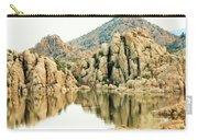 Prescott Arizona Watson Lake Water Mountains Lake Rocks Sky Reflections 4831 Carry-all Pouch