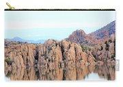 Prescott Arizona Watson Lake Water Mountains Lake Rocks Sky Reflections 4835 Carry-all Pouch