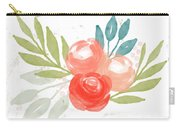 Pretty Coral Roses - Art By Linda Woods Carry-all Pouch
