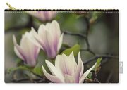 Pretty White And Pink Magnolia Carry-all Pouch