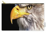 Profile Of Bald Eagle Carry-all Pouch