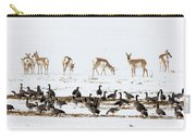 Pronghorn Antelope And Geese Carry-all Pouch