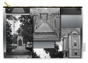 Provincetown Town Hall Cape Cod Massachusetts Collage Bw Vertical Carry-all Pouch