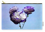 Purple And White Lisianthus Carry-all Pouch