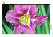 Purple And Yellow Flower Carry-all Pouch