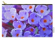 Purple Flowers In The Morning Dew Carry-all Pouch