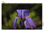Purple Iris And Dewdrops II Carry-all Pouch